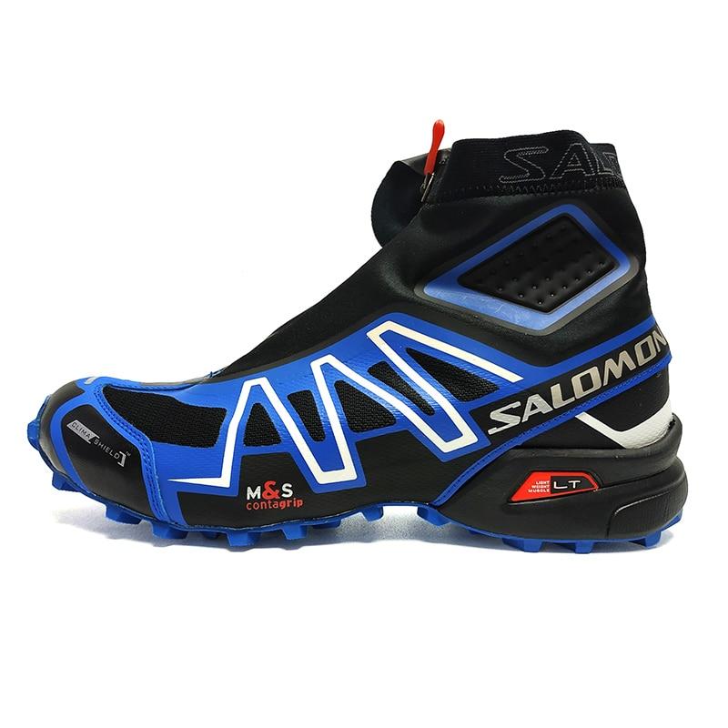 Hot Sale Salomon Shoes Speed Cross CS Snowcross Sneakers Men Running Shoes Classic Black Blue Outdoor Speedcross Sports Shoes