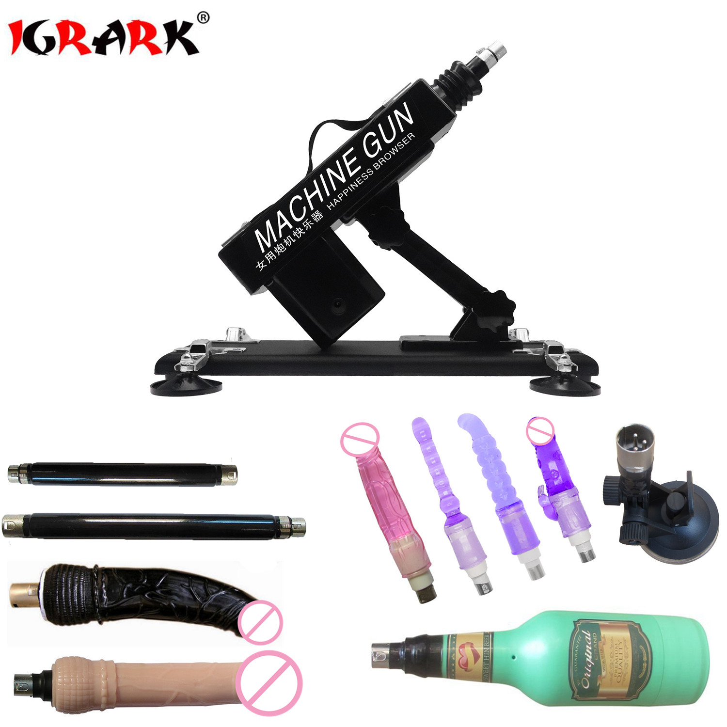 IGRARK Automatic Updated Sex Machine With 6 Different Size Balls Dildos Love Machine Gun Sex Toys For Woman Sex Products-in Vibrators from Beauty & Health