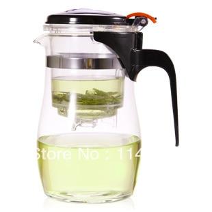 1PC Longming Home 500ml <font><b>Glass</b></font> double press teapot with filter drum shape <font><b>glass</b></font> cup OZ 0033