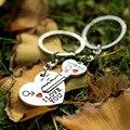 Nuevo 1 Par Pareja TE Amo Carta Llavero Llave Del Corazón anillo de Plata Chapado En Los Amantes Amor regalo del Día de San Valentín Llavero Souvenirs