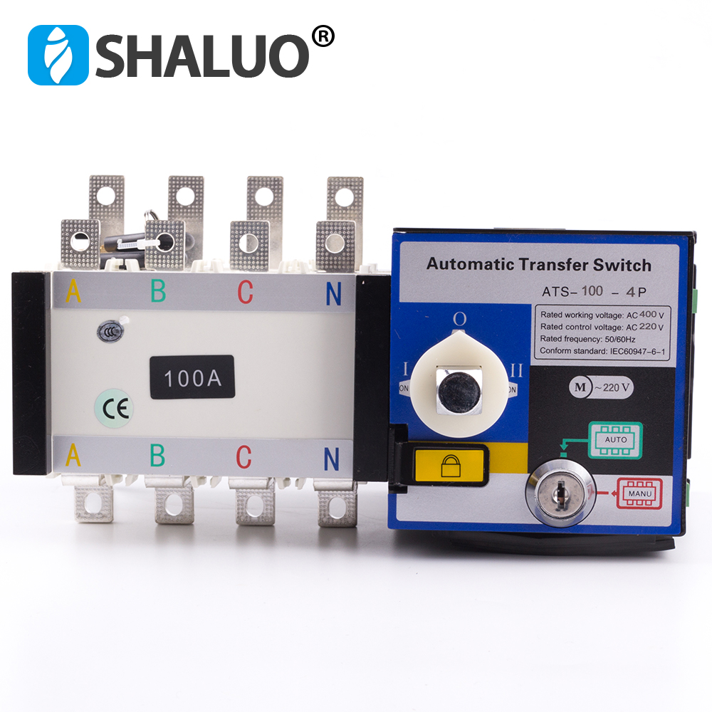 4P 100A 400V Universal Automatic Transfer Switch ATS Dual Power Transfer Switch ac diesel generator part