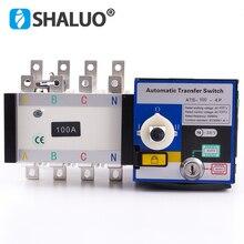 4P 100A 400V Универсальный автоматический переключатель передачи ATS двойной переключатель передачи мощности дизельный генератор переменного тока один трехфазный