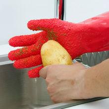 1 пара Водонепроницаемый Быстрый Пилинг Терка рукавицы картофеля тереть Перчатки Чистка овощей инструменты