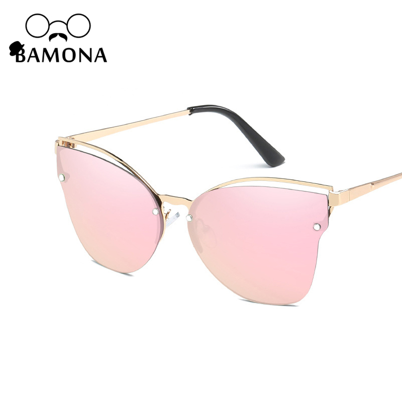 BAMONA 7 Colors Spring Summer Styles Sunglasses Fashion Light Weight Sunglass for Women Vintage Metal Eyewear Shades UV400