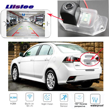 LiisLee  wireless rear camera For Mitsubishi Lancer Fortis  iO  GT 2007~2015 CCD Night Vision Backup camera license plate camera