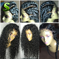 8А Фронта Шнурка Человеческих Волос Парики Для Чернокожих Женщин Перуанский Девственница волосы Кружева Перед Парики Deep Вьющиеся Glueless Полный Шнурок Человеческих Волос парики