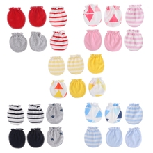 3Pairs Fashion Baby Anti Scratching Gloves Newborn Protection Face Cotton Scratch Mittens W15