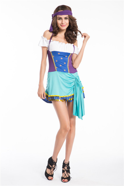 2015 hot halloween party costumehalloween pirate cosplay costumes gypsy halloween costume