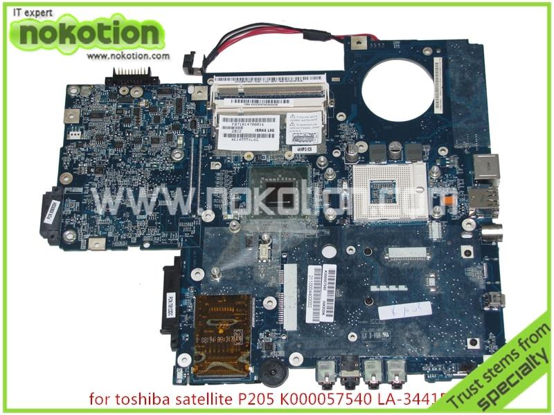ISRAA LA-3441P REV 2B K000057540 For toshiba satellite P200 P205 Laptop mainboard  965GM with intel HD graphics israa la 3441p rev 2b k000057540 for toshiba satellite p200 p205 laptop mainboard 965gm with intel hd graphics