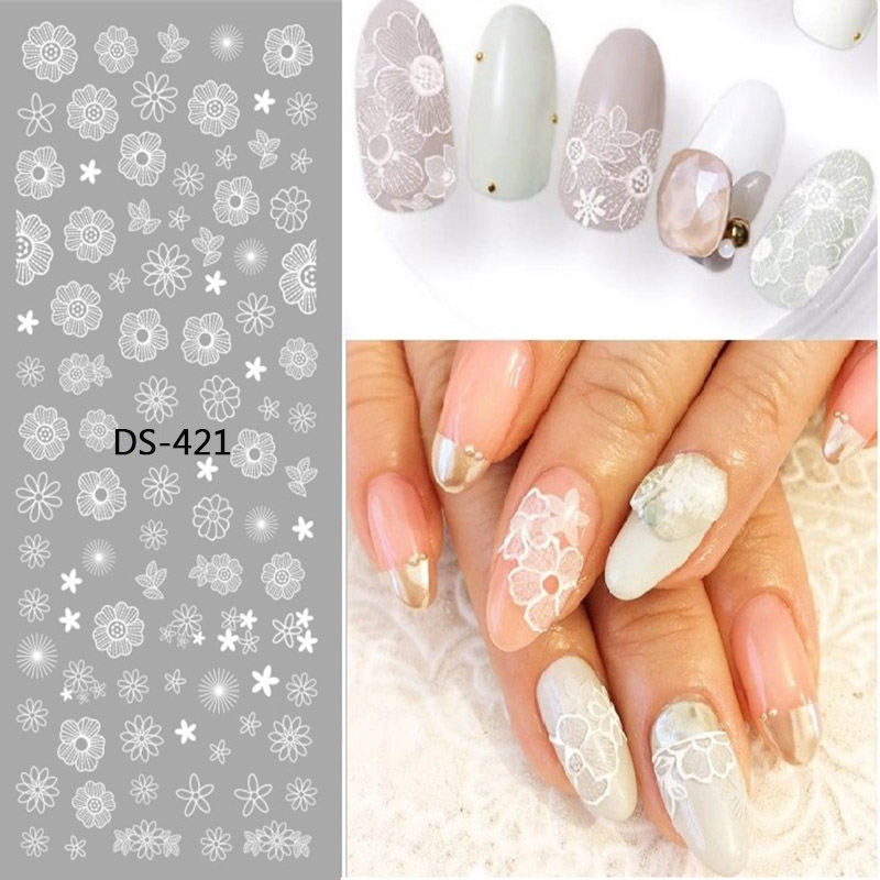 1 Pc Colorful Flower Starfish Lavender Cute Animal Watermark Large Sheet Decal Sticker DS-421-429 Japan Manicure Nail Sticker mutlu soykurt project based learning in teaching english