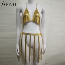 7e7519cde8 Buy sexy gold chain backless dress and get free shipping on ...