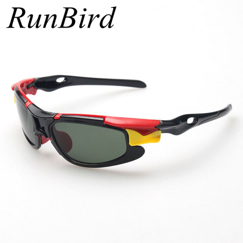 RunBird 2016 New Boy TAC Polarized Goggles Sport Children Sunglasses Kids Protection Sun Glasses Girls Cute Cool Glasses R026