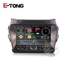 2din Android car radio dvr radar detector gps navigator rearview camera for hyundai ix45 Support bluetooth sd obd