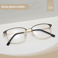 Photochromic glasses anti blue light block UV400 computer game protection goggle man women harm ray filter retro myopia eyeglass
