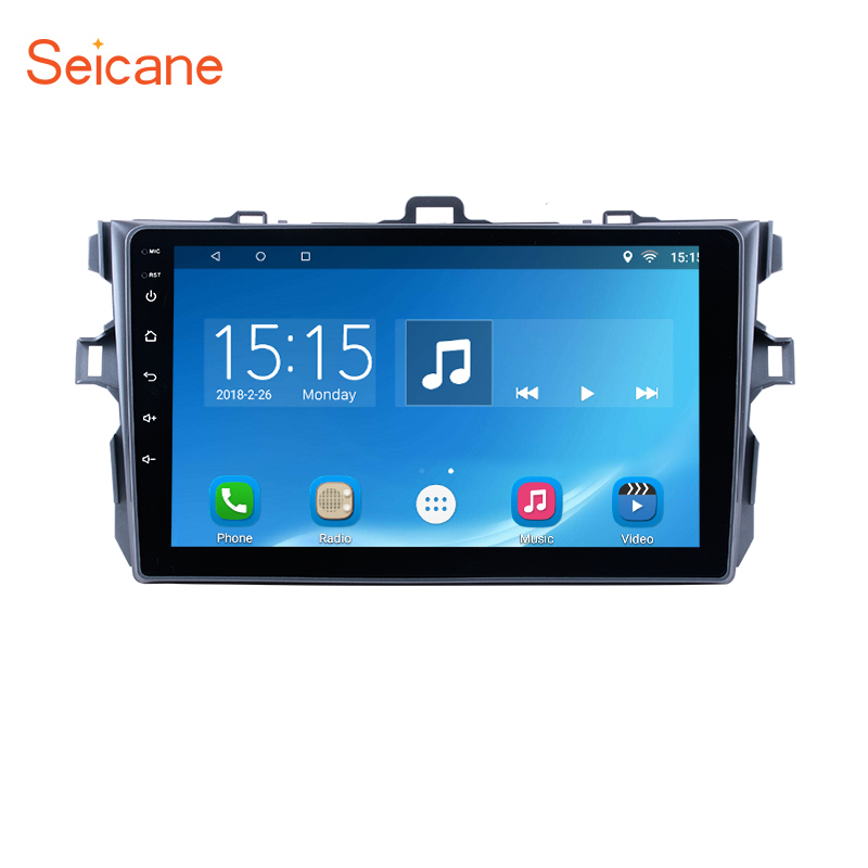 Seicane!For 2006 -2012 Toyota Corolla Android 6.0 /7.1 GPS Multimedia Navigation System support 3G WiFi Bluetooth with Quad-core 43 2012