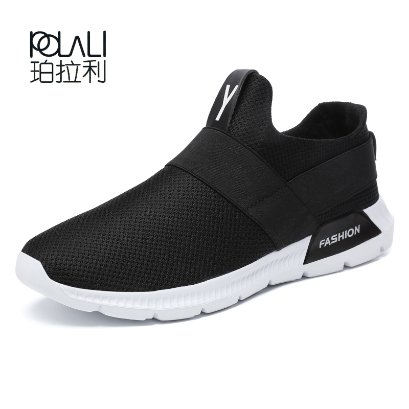 Light Mens Sneakers Summer Mesh Breathable Sports Shoes Zapatos Slip  On Sneaker