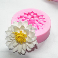 Wolesale 10 stks Mini 3D serie lotus mold fondant Gum paste mold handgemaakte zeep chocolade schimmel FM137