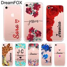 цена Custom Your Name DIY Design Case Cover For iPhone 11 Pro X XS XR Max 5 5s SE 6 6s 7 8 Plus Personalized