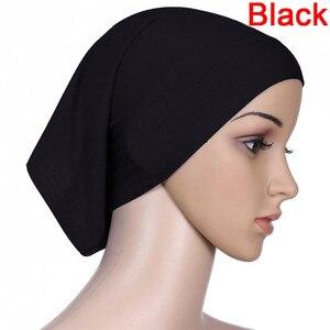 Image 3 - Musulmano Islamico Arabo Tubo Hijab Underscarf Velo Abito Abaya Interno Caps Cappelli di Cotone Mercerizzato Elastico Regolabile