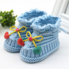Toddler Newborn Baby Knitting Lace Crochet Shoes Buckle Handcraft Shoes Baby soft bottom non-slip cotton toddler shoes Z0828(China)