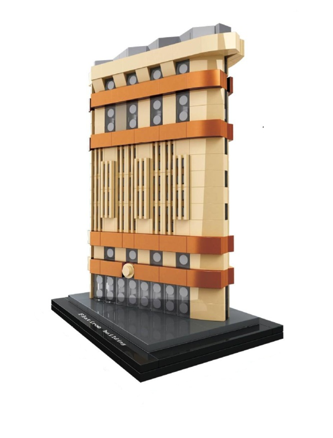HSANHE Architecture City Flatiron Building Famous Model Building Blocks Sets Bricks Classic Kids Gifts Toys Compatible Legoings loz mini diamond block world famous architecture financial center swfc shangha china city nanoblock model brick educational toys