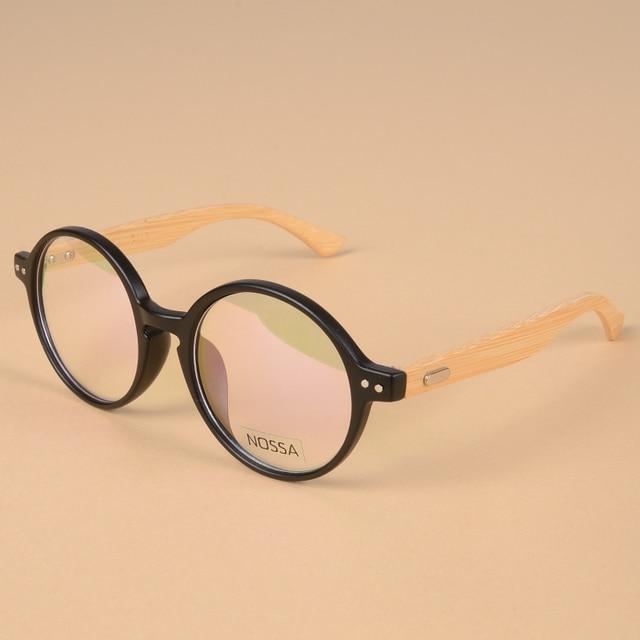 2cc08b02b8d Vintage Personality Round Frame Eyeglasses Women Men Bamboo Handmade Eyewear  Brand Designer Casual Glasses Myopia Optical