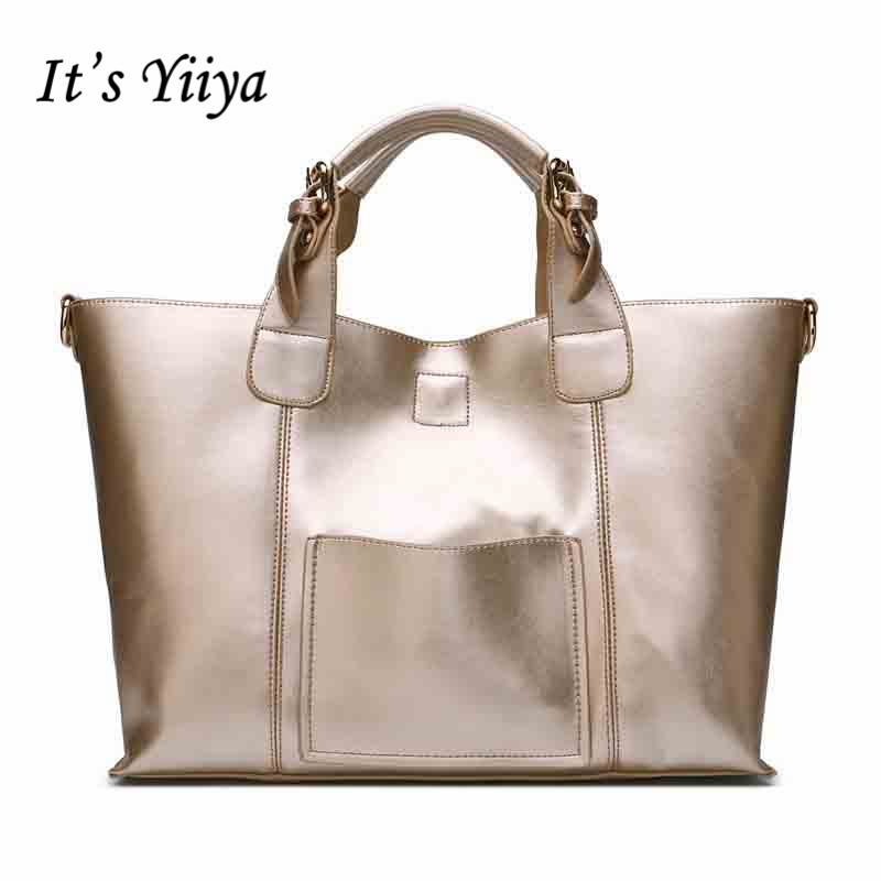 It's YiiYa 5 Colors Women HandBag European And American Style Genuine Leather Messenger Bags With Interior Zipper Pocket SS365 dtbg pu leather women handbag fashion european and american style totes messenger bag original design briefcase zipper 2017