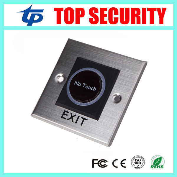 Door access control exit button no touch infrared exit switch door switch metal door access switch opener exit wound