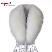 100% real fox fur collar winter new scarf fashion comfortable hot shawl large size collar men women coat coat collar wholesale