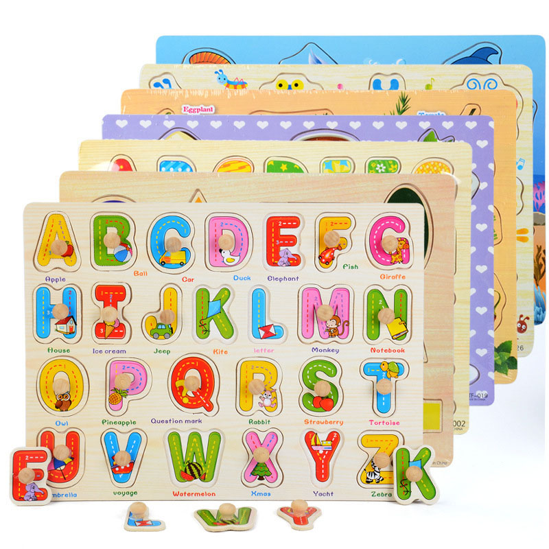 Cognitive Matching Puzzle Baby Jigsaw Board Kids Montessori Educational Toys