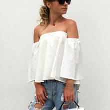 ZOGAA 2019 Off Shoulder Ladies Summer Tops Chiffon Shirts Plus Size Womens White Chiffon Sexy Blouse Femme Strapless Ruffle Top plus size flower chiffon off the shoulder top
