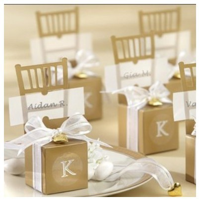 wedding favor box Monogram Silver Chair Favor Box party gifts boxes 250pcs lot