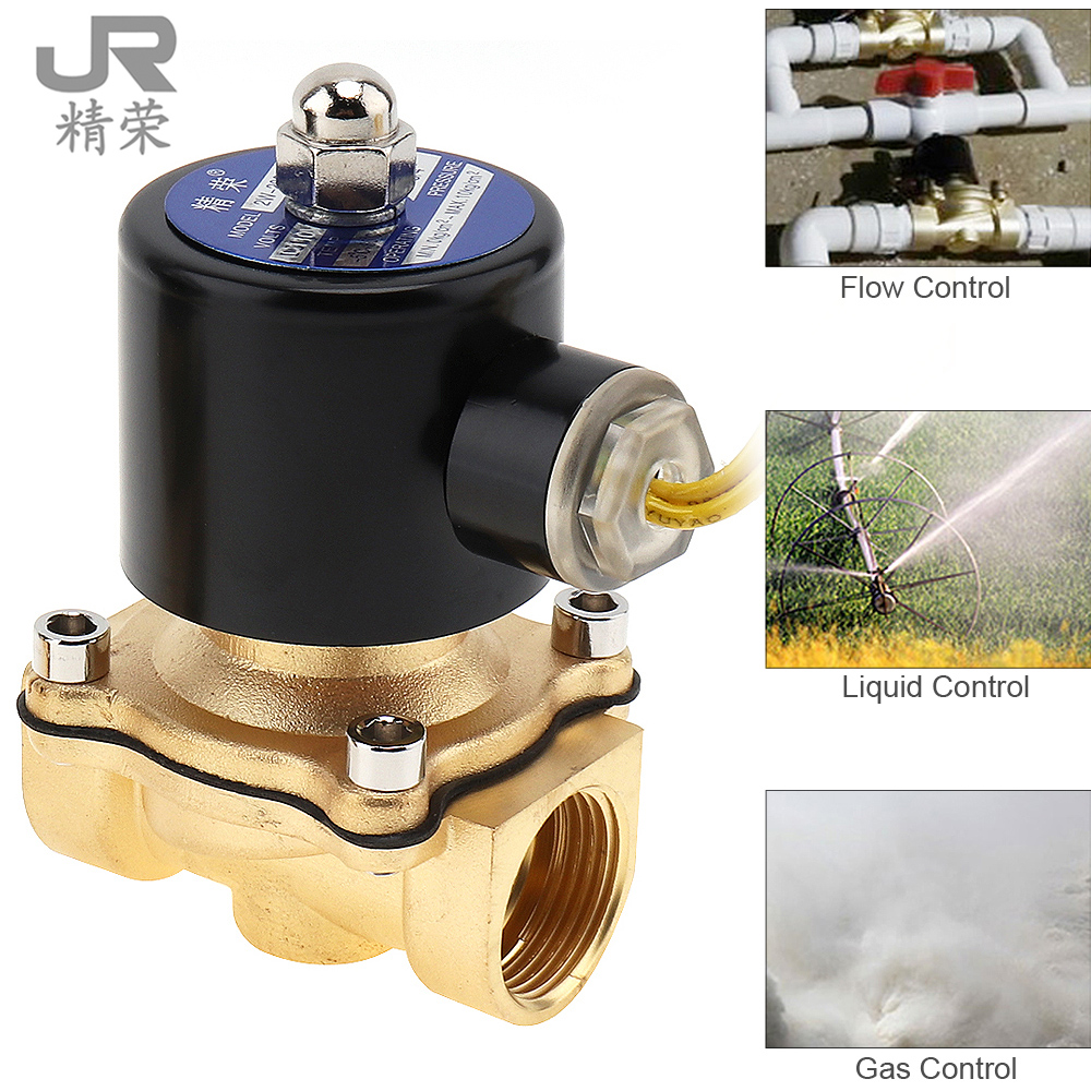3/4 AC 110V / 220V Electric Solenoid Valve Pneumatic Magnetic Valve Brass Body for Water Air Oil Gas brass electric solenoid valve 2w 200 20 3 4 inch npt for air water valve 110v nc