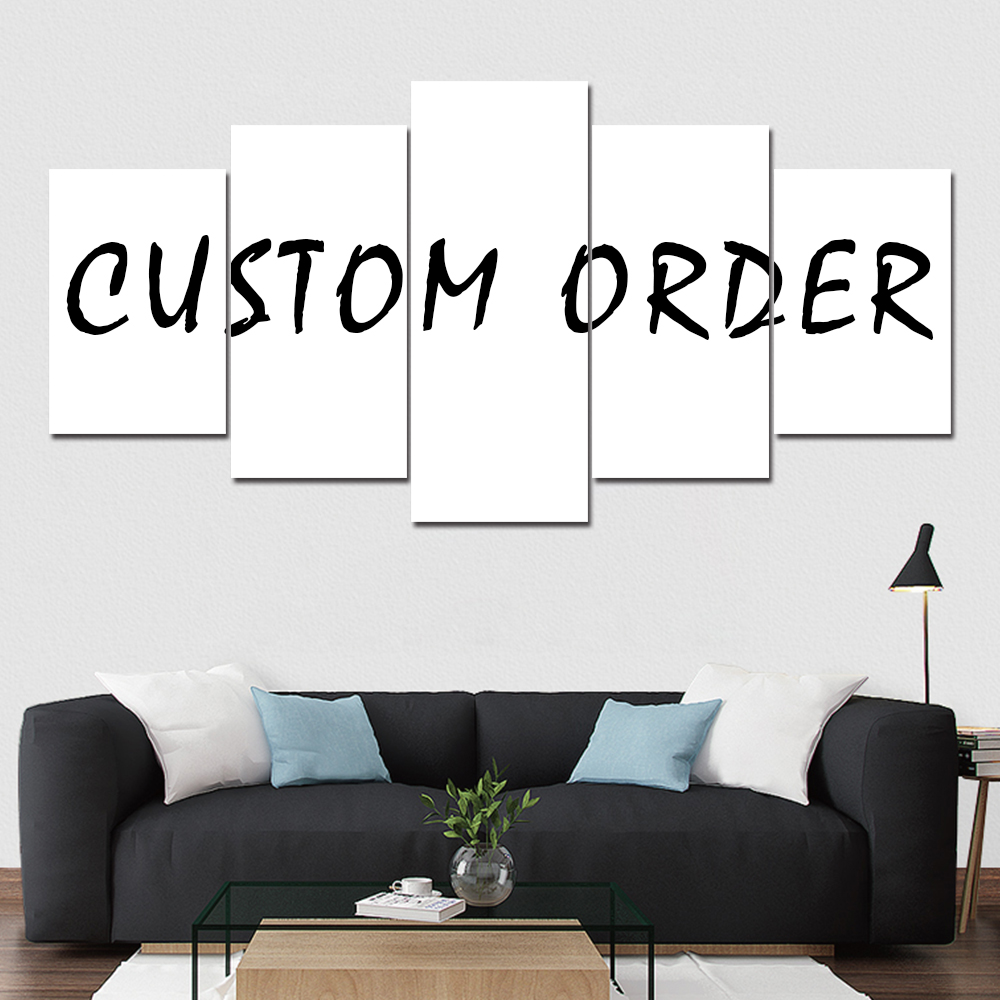 Custom Order Multi Panels 5  Poster Abstract Wall Art Home Decor Painting Canvas Print