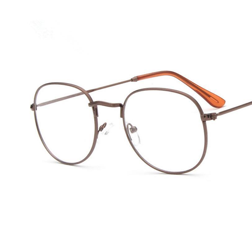 2016 Metal Big glasses frame men women computer unisex retro round nerd glasses optical myopia eye glasses Frame New