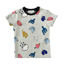 Boys T-shirt New 2017 Summer Baby Cartoon Pattern Clothes Toddler Girls Short-sleeve T Shirts Kids Tops Tees Clothing Ropa Bebe