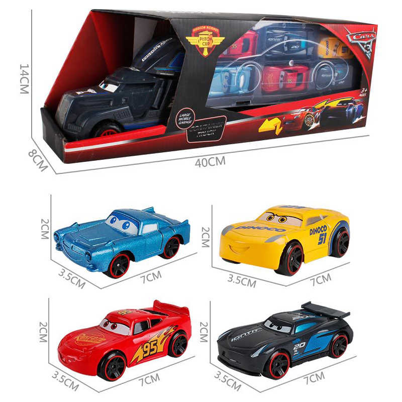 Cars Disney Pixar Cars 3 Toys Lightning McQueen Jackson Storm Mack Uncle Truck 1:55 Diecast Model Car Toy Children Birthday Gift