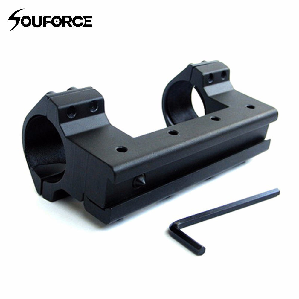 High quality 25.4MM/1 Low Profile Scope Mount 11mm Weaver Rail 100mm Long For Rifle Scope Double Scope Ring Mounts image