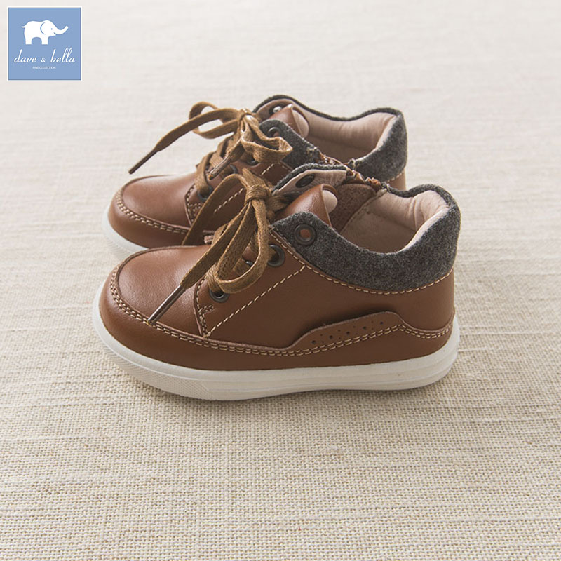 DB6013 Dave Bella autumn winter baby boy girl leather shoes kids shoes db6743 dave bella spring summer baby girl canvas shoes floral casual shoes