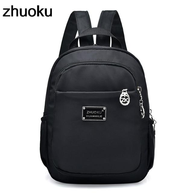 080b1291e726 Mochila Feminina Mini Small Backpack for Teenage Girl Backpacks Bolsa  Escolar Casual Nylon Waterproof Women Chest Bagpack 2018