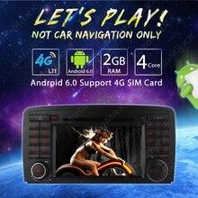 7″ inch Android 6.0 (64bit) DDR3 2G/16G/4G LTE Quad Core Car DVD GPS Radio Head Unit For Mercedes Benz R W251/R280/R300//R320