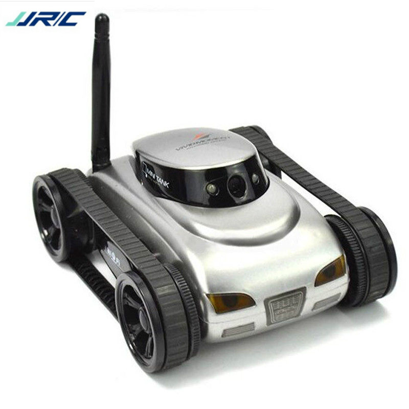 JJRC 777-27 Remote Control Mini WiFi RC Robot Car Camera Real-time Tank Kids Toy for Iphone IOS For Android Smart Phone Gift wifi mini rc camera tank car ispy with video 0 3mp camera 777 270 remote control robot with 4ch suppots by iphone android app