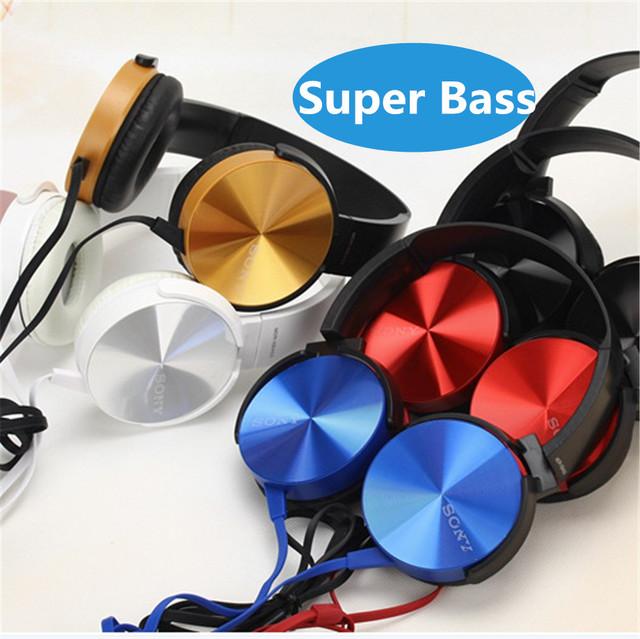 Con LOGO! xb450 3.5mm super bass auriculares diadema auricular de teléfono auriculares para xiaomi iphone 5s 6 plus samsung sony mp3 mp4