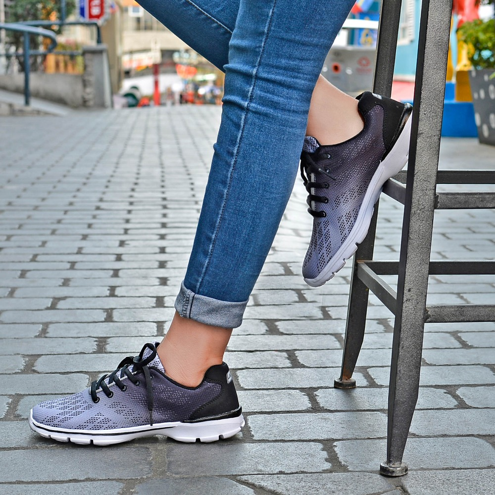 QANSI New Gradually Changing Color Women Running Shoes Spring Autumn Breathable Shoes Outdoor Sport Sneakers For Female 1678W 18