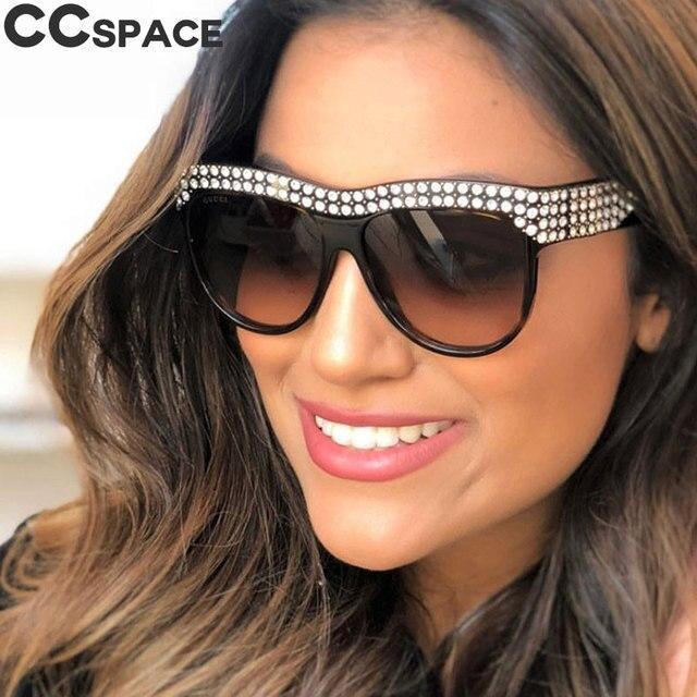 6882ffce6f20a0 Glitter Strass lunettes de Soleil Carré Femmes De Luxe Diamant Lunettes  UV400 Mode Nuances 45344
