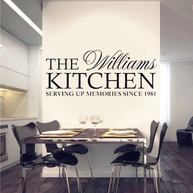 Nice Personalisierte Familie Küche Wandtattoos Aufkleber Home Decor Modern Style  Aufkleber Für Wanddekoration Küche Wandaufkleber