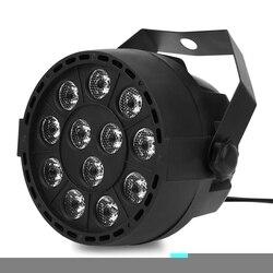 Lightme Professional Stage Light Projector 12 LEDs RGBW Color Mixing Par Lamp 8CH Voice Activated DJ Lamp Party KTV Concert Ligh