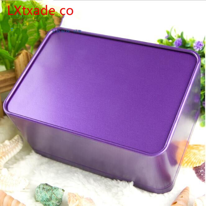 free Shipping 100g/ml Square Tinplate Empty Jar Retail New Originales Refillable Tea Candy cookies Empty Packaging Containers