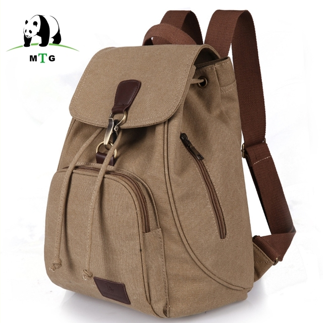 Mtg Female Women Canvas Backpack Preppy Style School For Age S Lady College Student Laptop Bag