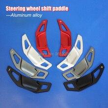 2pcs Aluminum Steering Wheel Shift Paddle Shifter Extension For Toyota Camry 12-17 Corolla 14-17 2pcs steering wheel aluminum shift paddle shifter extension for honda fit 2009 2013